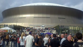 Mercedes Benz Superdome before a Saints game