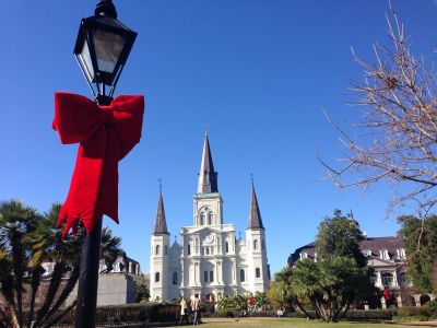Jackson Square at Christmas