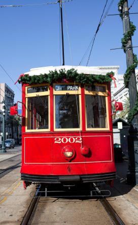 Chirstmas New Orleans Streetcar