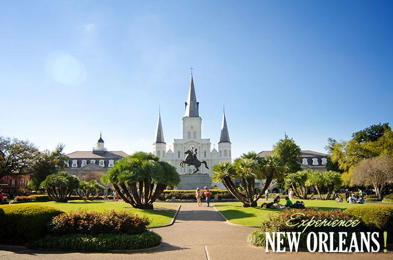 Jackson Sqaure with St. Louis Cathedral In The Background