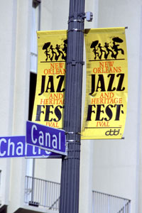 New Orleans Jazz Festival Street Sign