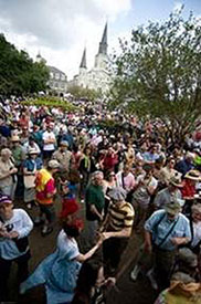 French Quarter Festival crowds