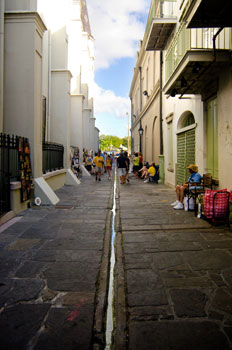 Pirate's Alley near Jackson Square in the French Quarter