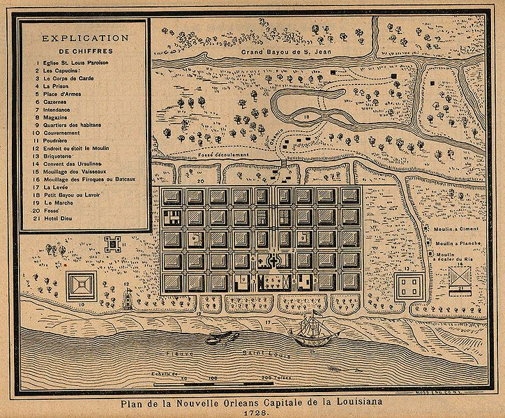 1728 Plan for New Orleans