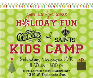 Holiday Fun at Copeland's